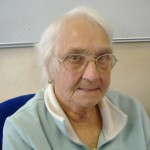 Picture of Mary. Our oldest volunteer